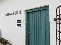 Eingangstür der Stadelgalerie Waldsassen.