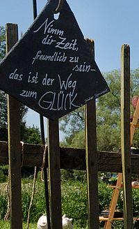 Schiefer-Schild von der Stadelgalerie.