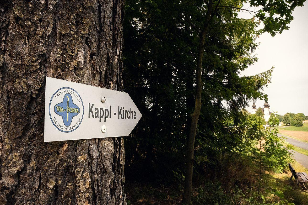 Wander-Schild zur Kappl.