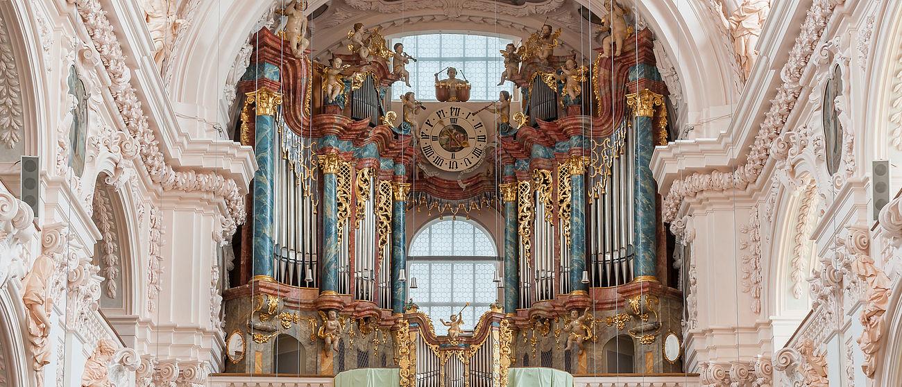 Die Orgel in der Basilika Waldsassen.