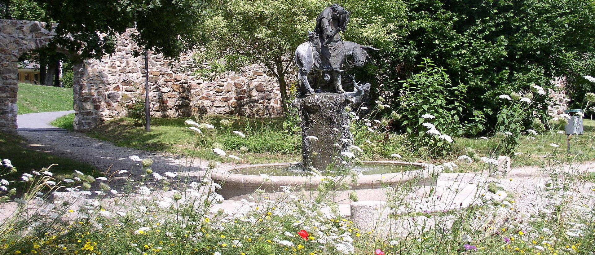 Der Gerwigbrunnen auf der Schwanenwiese.